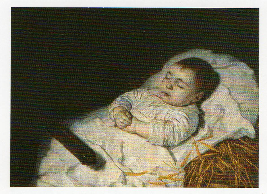A child's deathbed portrait