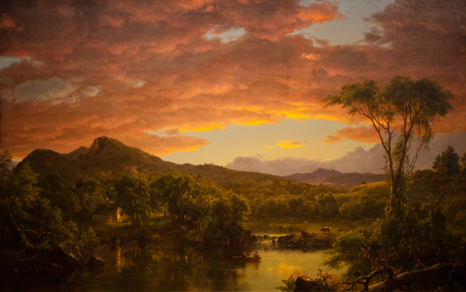 A Country Home Frederic Edwin Church