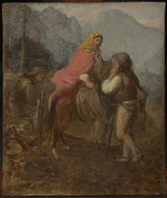 A Highlander Woman on Horseback