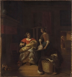 A Lady and a Child with a Serving Maid