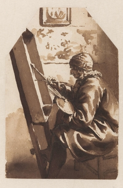 A Painter Seated at his Easel