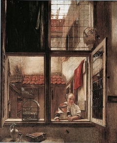 A Woman with a Child by a Window