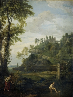 Arcadian landscape with Salmacis and Hermaphroditus