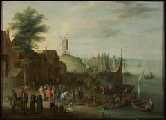At a fishing port