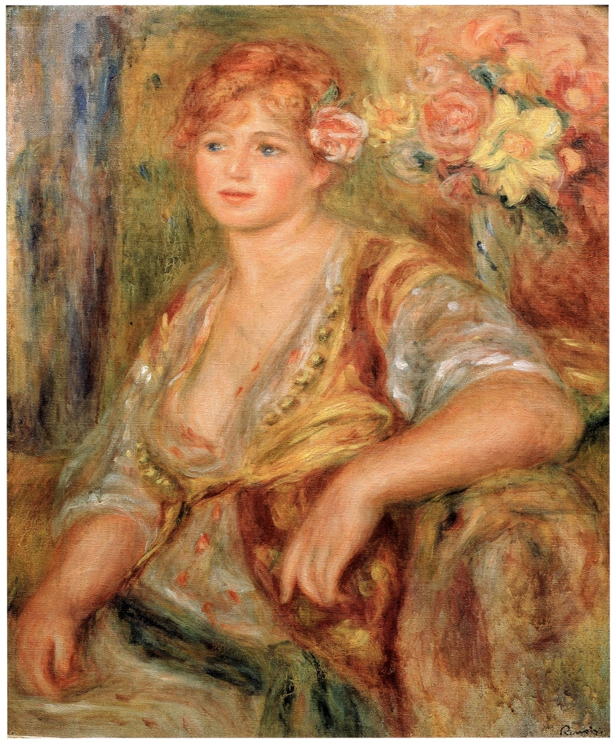 Blonde Girl with a Rose