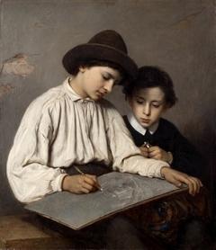 Boys drawing