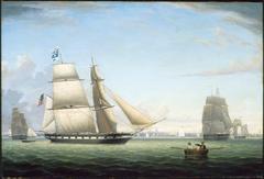 "Brig ""Antelope"" in Boston Harbor"
