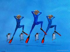 C'EST LA DANSE DES PINGOINS - Penguins dance - by Pascal