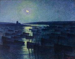 Camaret, Moonlight and Fishing Boats