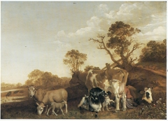 Cattle with a Milkmaid