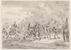 Cavalerie bij tentenkamp