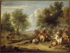 Choc de cavalerie ou Combat de cavalerie