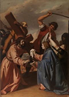 Christ Bearing the Cross Meets Veronica