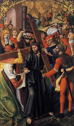 Christ, Carrying the Cross, meets Veronica