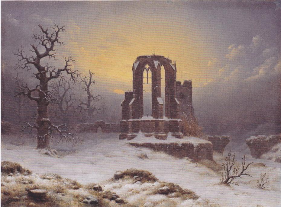Church Ruins in Snow