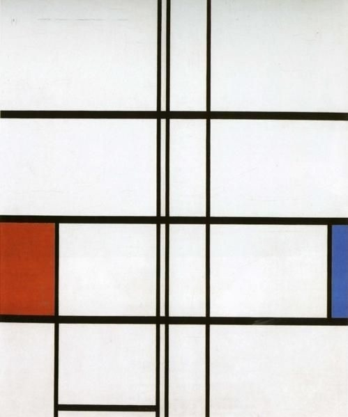 Composition with Red and Blue