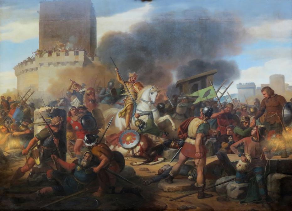 Count Eudes defends Paris
