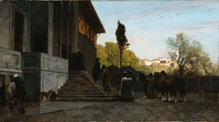 Courtyard in Constantinople