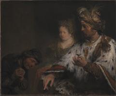 Den persiske kong Ahasverus giver Mordokaj ringen