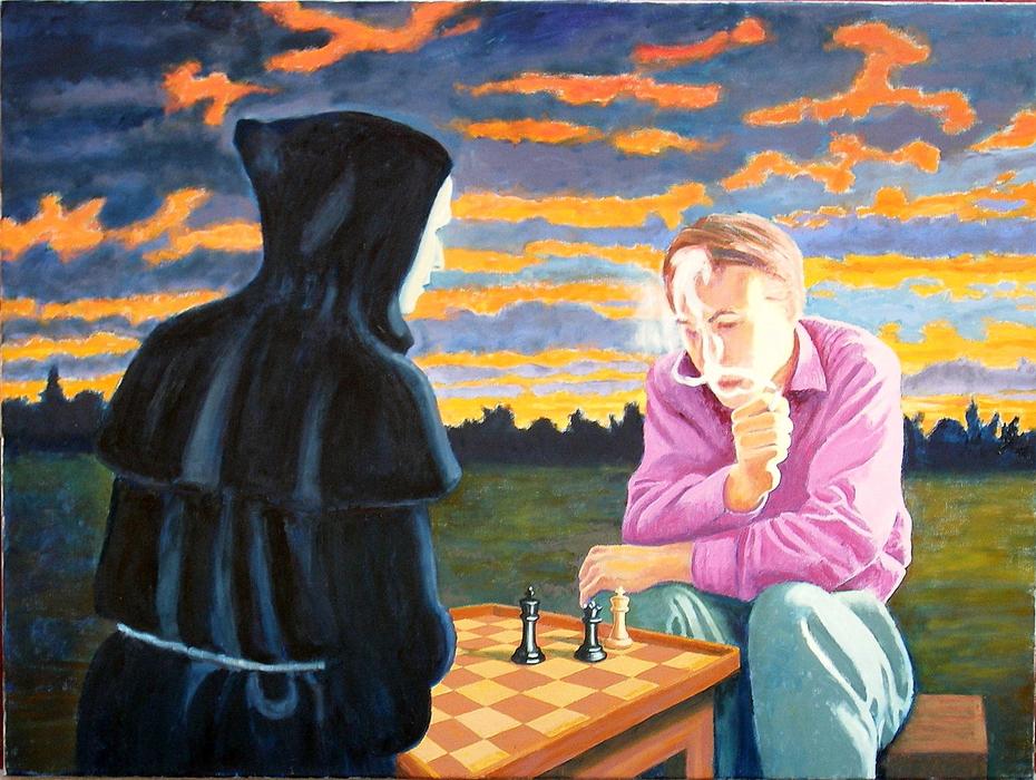 'Endgame', (2011). Oil on linen. 90 x 120 cm.