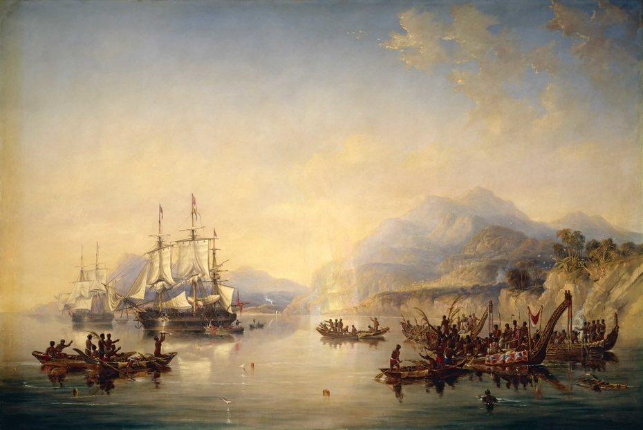 'Erebus' and the 'Terror' in New Zealand, August 1841