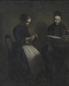 Evening in the Drawing Room. The Artist's Mother and Wife