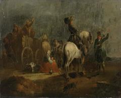 Fahrendes Volk mit Reiter bei der Rast (Nachfolger)