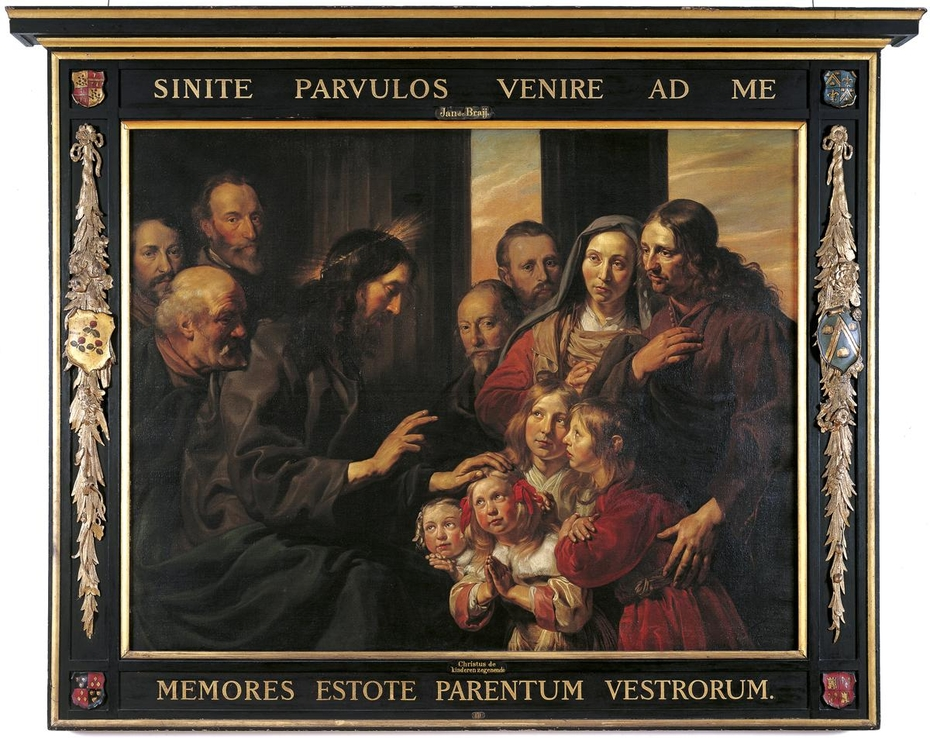 Family Portrait of Braems-Van der Laen with Christ Blessing the Children