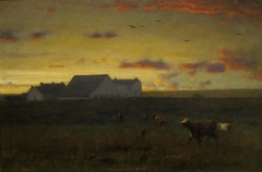 Farm Landscape, Cattle in Pasture