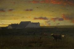 Farm Landscape, Cattle in Pasture