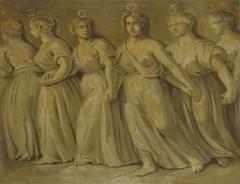 Female Personification of the Planets: Mercury, Venus, Sun, Mars, Jupiter and Saturn