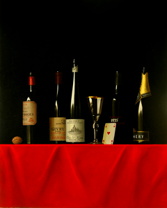 Five wine bottles
