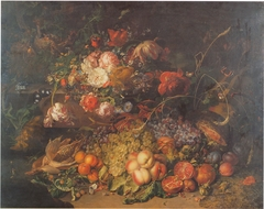 Flowers and fruit in a forest