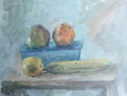 Four Fruits and a Bowl