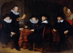 Four governors of the arquebusiers' civic guard, Amsterdam.