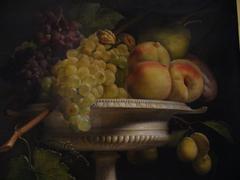 Fruits dans une coupe d'albâtre