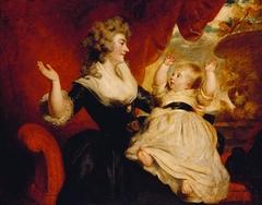 Georgiana, Duchess of Devonshire, with her daughter Georgiana, later Countess of Carlisle