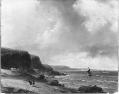 Gezicht op de Franse kust bij helder weer