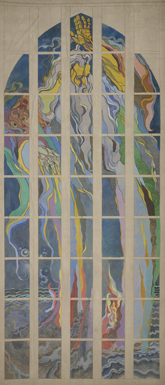 God the Father – Design to the Stained-Glass Window for the Franciscan Church in Krakow