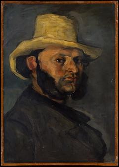 Gustave Boyer (b. 1840) in a Straw Hat