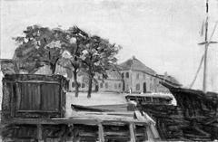Havn i en lille købstad