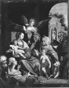 Heilige Familie mit Elisabeth, Johannes, Zacharias und Katharina (Kopie nach)