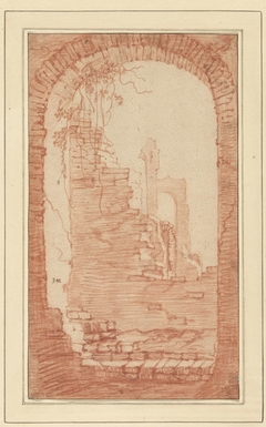 Hoge ruïnes van antieke gebouwen te Rome