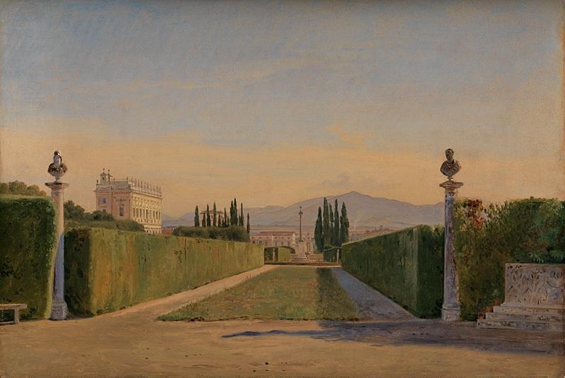 In the Gardens of the Villa Albani, Rome