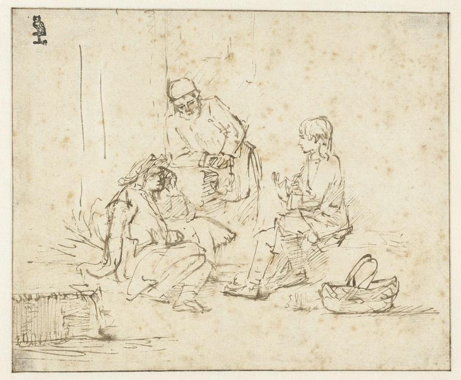 Jozef in de gevangenis verklaart de dromen van de schenker en de bakker