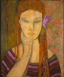 La flor malva / The purple flower