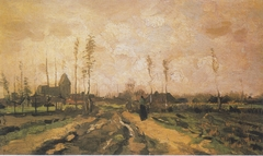 Landscape with Church and Houses
