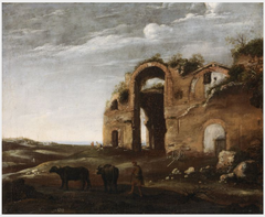 Landscape with the Ruins of the Baths of Diocletian, Rome