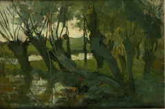 Landscape with willows on the Gein
