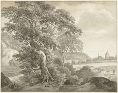 Landschap naar Ruisdael